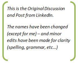 Original LinkedIn Discussion